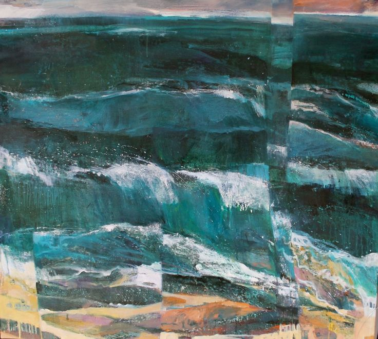 Waves Of Exhilaration 2 Tryptch –  Oil on Board PLATFORMstore