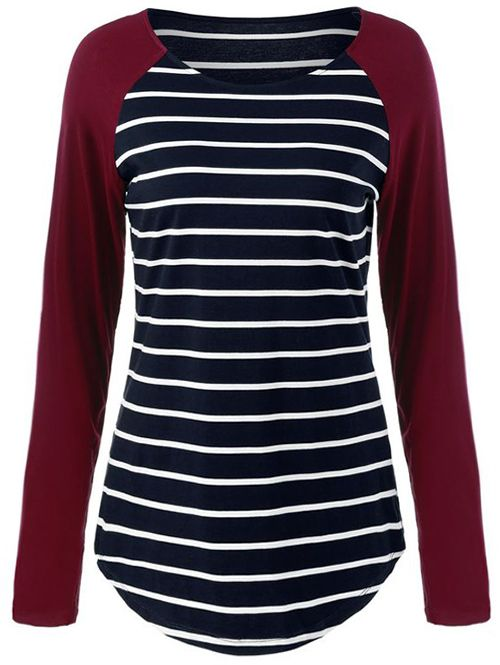 Have this winter color with free shipping&easy return! This striped top will be your fave for pairing up for your winter look! Try it at Cupshe.com