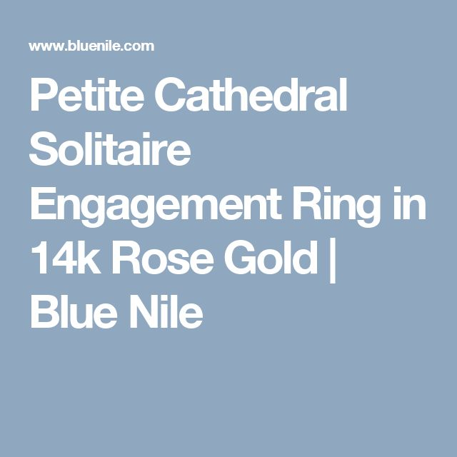 Petite Cathedral Solitaire Engagement Ring in 14k Rose Gold | Blue Nile