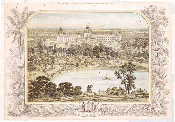 Chromolithograph, Sydney Exhibition Building , 1879
