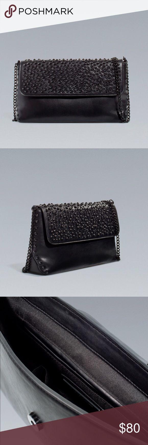 RARE Zara Black Studded Bag Zara black studded bag. Pre-loved but in great condition.‼️ Cheaper on Mercari or PayPal Zara Bags Crossbody Bags