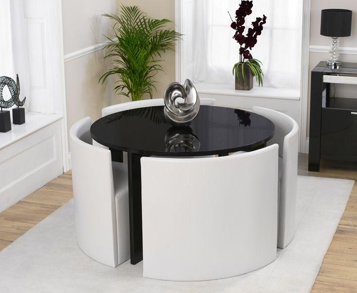 Více Než 25 Nejlepších Nápadů Na Pinterestu Na Téma Black Round Best Dining Room Table Sets For Small Spaces Design Decoration