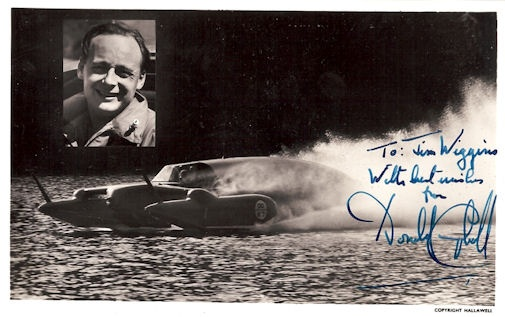 Donald Campbell Autograph