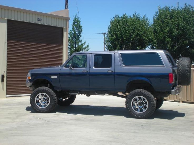 92 Ford four door Bronco converted into a powerstroke
