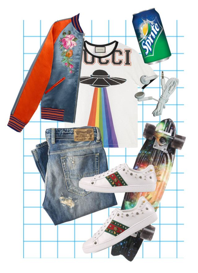 """men's ︎☺︎"" by mumachan on Polyvore featuring Gucci, Diesel, Globe, men's fashion と menswear"