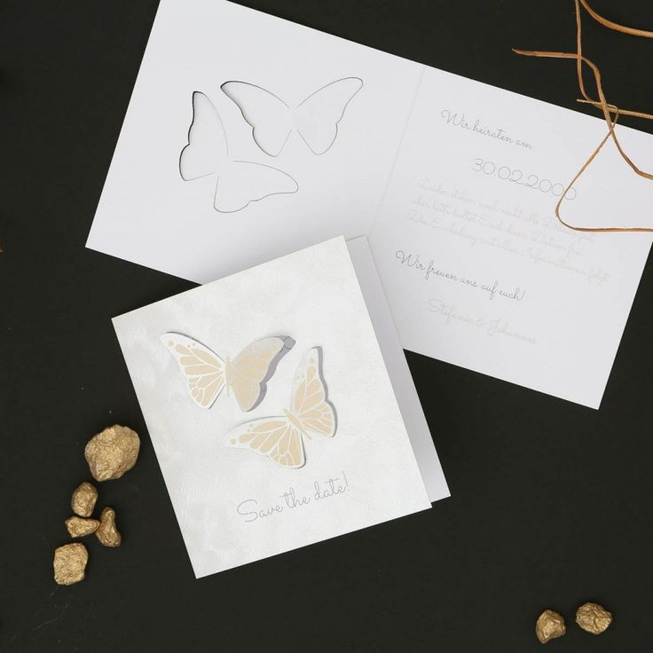 Butterfly Loves | Save the Date - Karte
