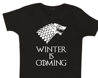 KING of the NORTH Baby Clothes Games of Thrones House | Etsy