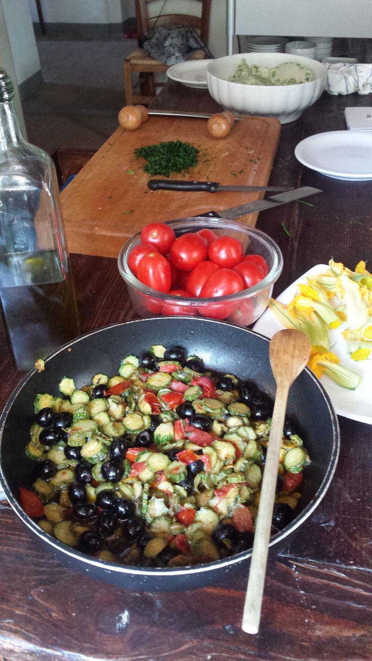 summer vegetables ragu