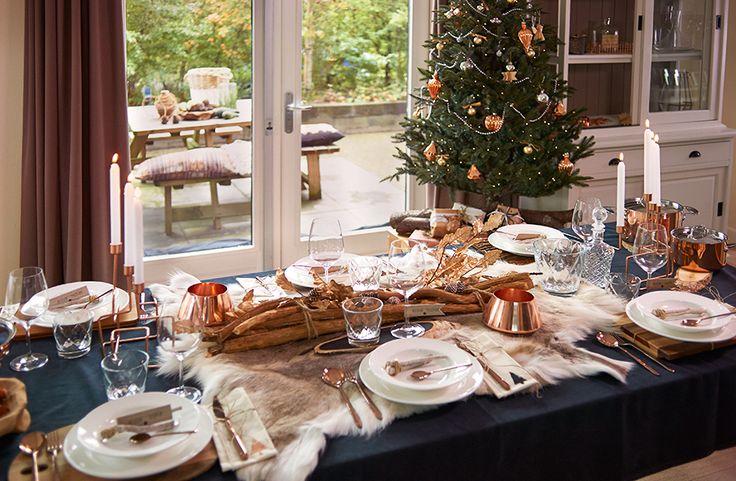 Feestdagen | Kersttrends 2015 - Kerst in koper & wit • Stijlvol Styling - Woonblog •