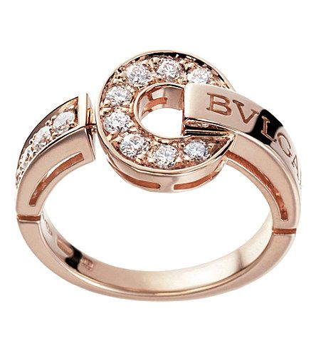 18kt pinkgold and diamond ring