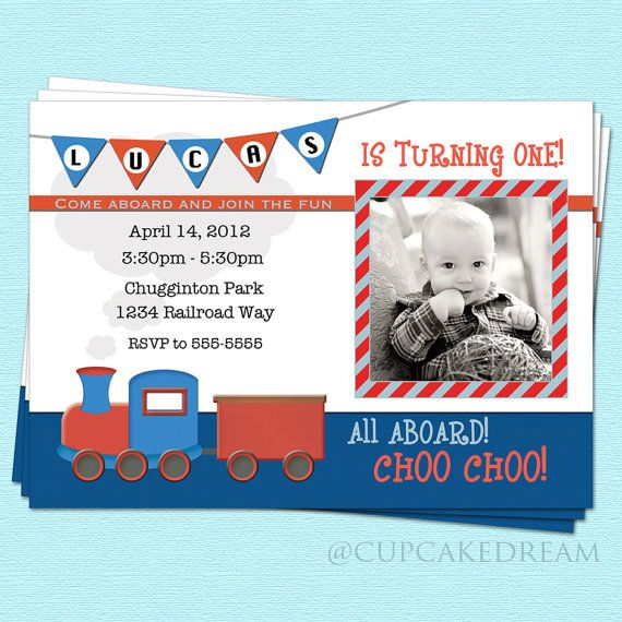 77 best Owens second birthday party images – Train Birthday Invitations