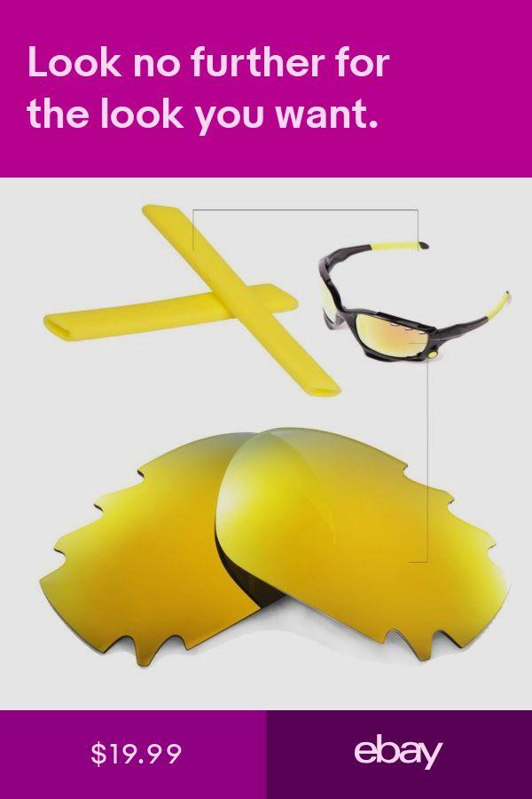 5fc72090c7 New Walleva Polarized 24K Gold Vented Lenses+Yellow Earsocks For Oakley  Jawbone