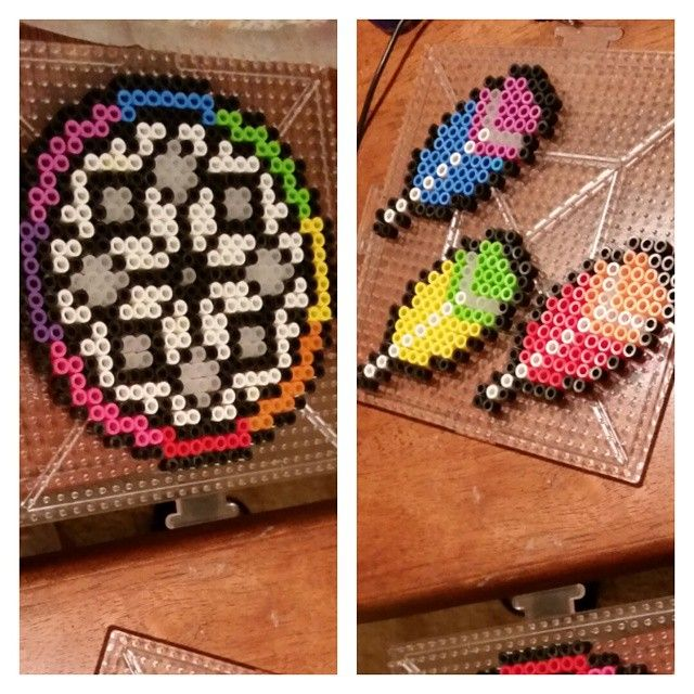Dreamcatcher perler beads by drivingdaisycrazy