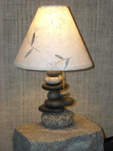 17 best images about lamps on pinterest hanging lights for Rock lamp
