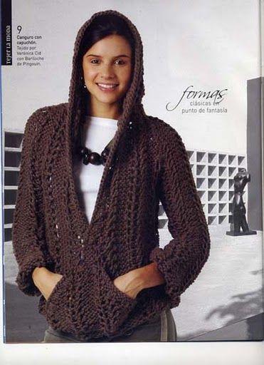 iKnitts: Como tejer un jersey de punto con capucha