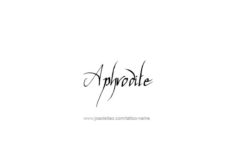 Tattoo Design Mythology Name Aphrodite