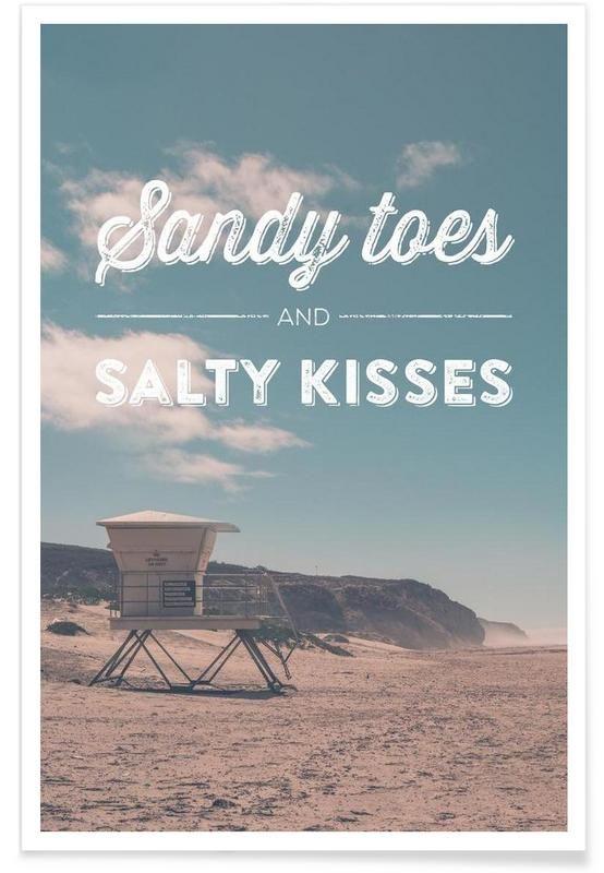 Sandy Toes and Salty Kisses als Premium Poster von Joe Mania | JUNIQE