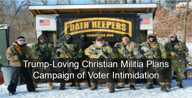 "Heavily armed Christian militia instructs members to ""hunt down"" voter fraud on Nov. 8. >>> This is ""making America great again""???? Armed vigilantes out after ""leftists"" who don't support Trump?  What the F$%# has this country come to?"