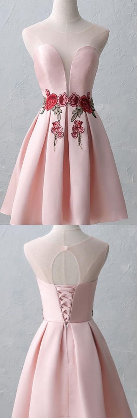 Short Homecoming Dresses, Homecoming Dresses Short, Cheap Homecoming Dresses, Cheap Short Homecoming Dresses, Homecoming Dresses Cheap, Pink Homecoming Dresses, A-line Homecoming Dresses, Short Homecoming Dresses With Pleated Sleeveless Mini