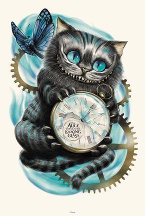 Wallpaper - Gato Alice Através do Espelho