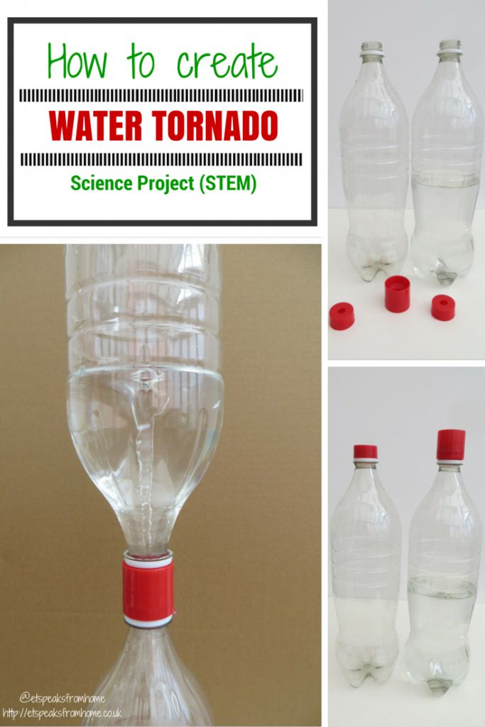 Science Project: Water Tornado Maker - ET Speaks From Home