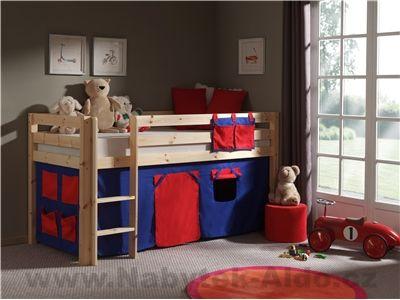 Detská posteľ z masívu s textíliou Pino TX70075