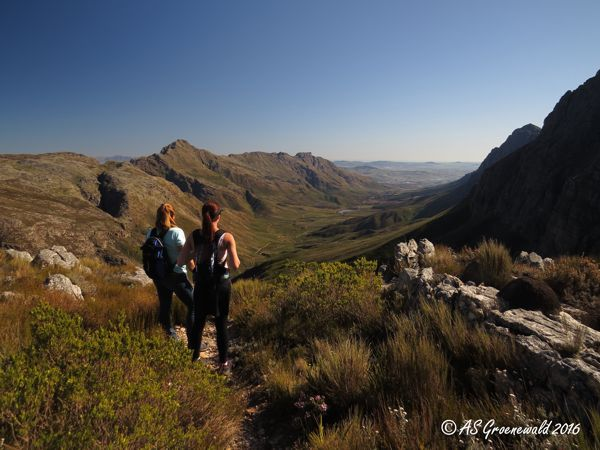 Awesome view of the Jonkershoek Valley from atop the Panorama Trail, 1 200m above sea level.