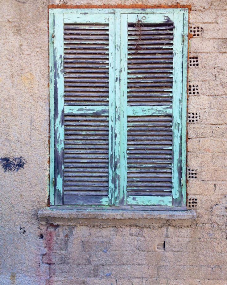 Vintage shutters, greek Island, Zakynthos
