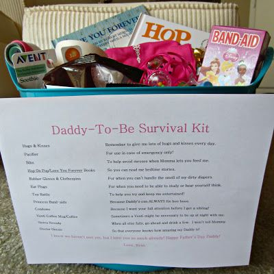 Daddy Survival Kit. I'm totally making one