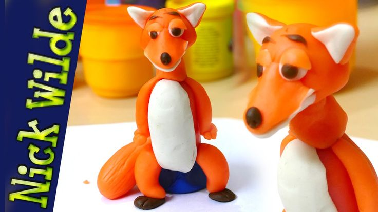 Play Doh Clay Modeling of Zootopia Nick Wilde | How to make Zootopia cha...