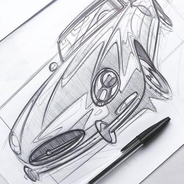 Never ending love for classics with Jaguar Saturday.. #cardesign #cardesignsketch #skeching #inktober #jaguaretype #inktober2017 #pensketch #racing #legend #transportationdesign #scribble #transportation #automotive #automotivedesign #automotivesketch #concept #sketchbook #sketching #doodle #jaguar #sportscar #luxurycar #luxurycar #freetime #classic #design #art #instagood #instasketch #carsketch #vintage