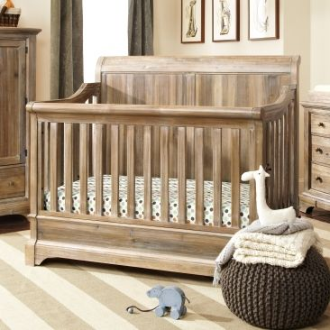 Bertini Pembrooke 4-in-1 Convertible Crib, Natural Rustic