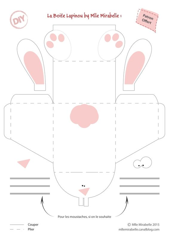 diy de paques la boite lapin tuto et patron gratuit. Black Bedroom Furniture Sets. Home Design Ideas