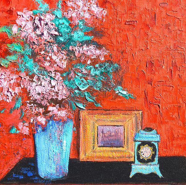 The Red Room  #flowerpaintings #stilllife #flowerart