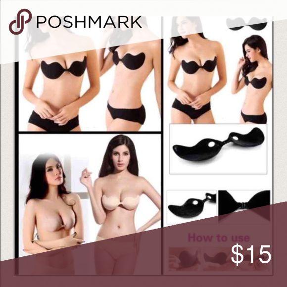 Bundle of 2 Self adhesive bra!💖 One black and 1 beige C Cup self adhesive bra Intimates & Sleepwear Bras