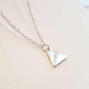 Avion złoty / srebrny - KORONA - minimalistyczna biżuteria