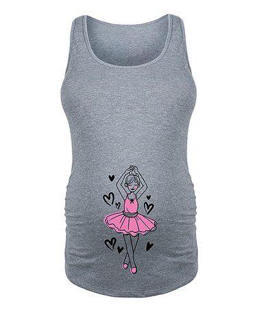 $14.99 marked down from $45! Athletic Heather Little Girl Ballerina Maternity Tank #zulilyfinds #maternity #ballerina