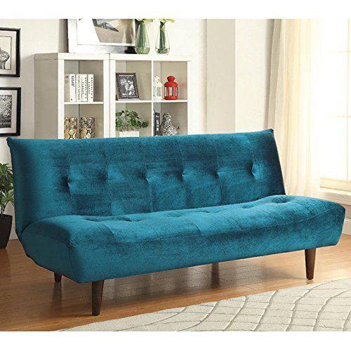 Coaster 500098 Home Furnishings Sofa Bed, Teal Coaster Ho...