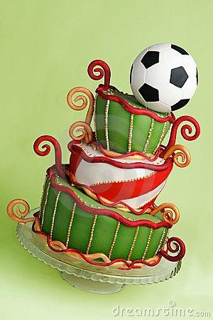 Soccer Fantasy Cake
