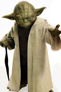 """Yoda, The Jedi Master of all Jedi Masters  """"Kick your ass, he will...hmmm?"""""""