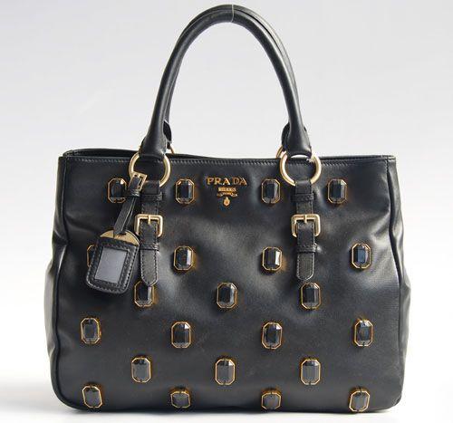 prada saffiano lux double-zip tote bag - prada 2916 black leather Handbag replica prada bag cheap prada bag ...