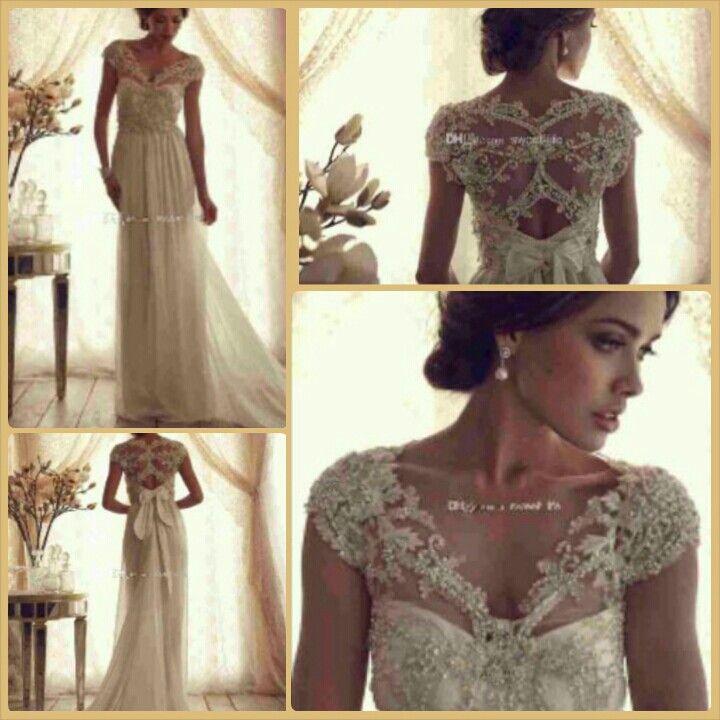 Anna campbell wedding dress the bride pinterest for Anna campbell wedding dress for sale