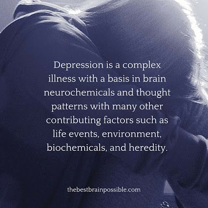 """Everybody's depression is different and mine is not """"more real"""" than yours."""