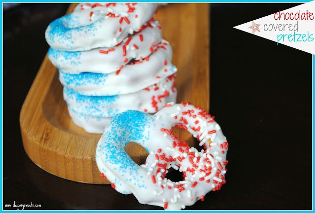 Red, White and Blue Pretzels