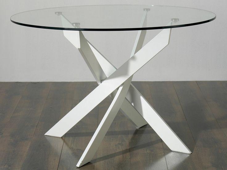 25 best ideas about table ronde en verre on table ronde en bois table bois et fer
