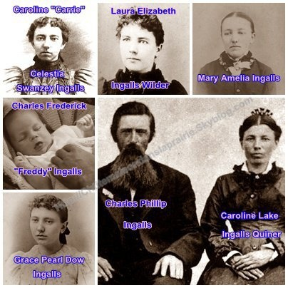 Ingalls family - Laura Ingalls Wilder, also related to the Ingalls family through our gr-grandfather, Edmund Rice. Funny, Laura and Almanzo were distantly related to each other.