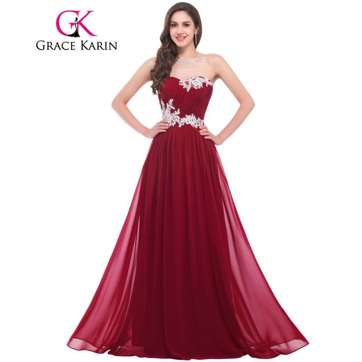 MACloth Women High Neck Lace Chiffon Long Prom Dress Formal Party Ball Gown (EU36, Wine Red)