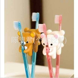 Suction cup toothbrush holder of the new Japanese single Rilakkuma relaxed bear cute the toothbrush hanging bathroom supplies A on Aliexpress.com