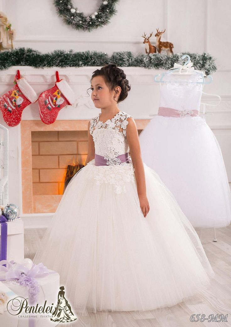 Cheap Lace Pearls Off Shoulder Tulle Flower Girl Dresses Vintage Child Pageant Beautiful Wedding F02 As Low 6917