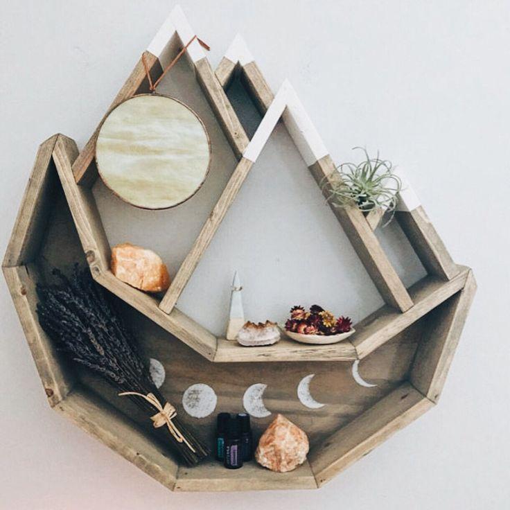 Mountain Moon Shelf Handmade By @cedarandcraftco Ringside
